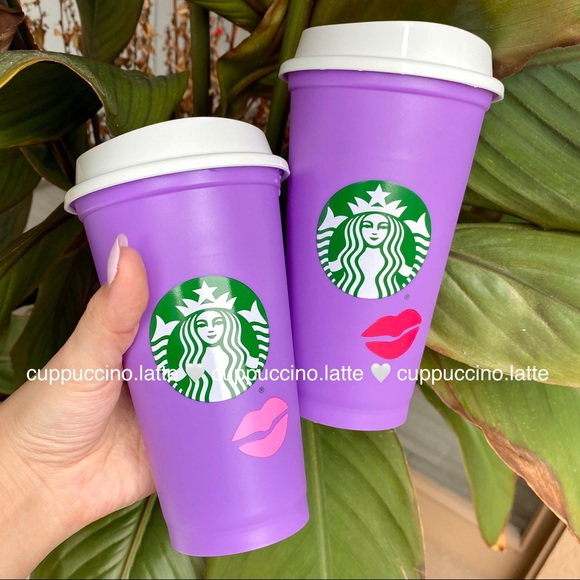 💜NEW SET❤️2 Starbucks Color Changing Lips Hot Cup